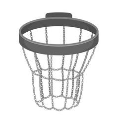 Basketball hoopbasketball single icon in vector