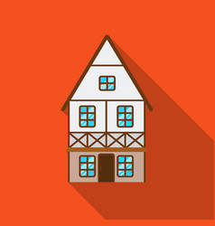 bavarian house icon in flat style isolated on vector image vector image