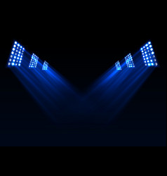 blue stage lights background vector image vector image