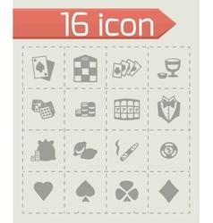 Casino icon set vector image
