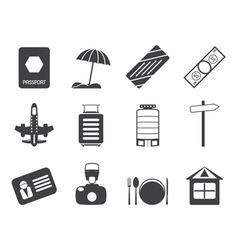 Holiday and Trip Icons vector image