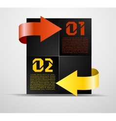Information block with pointers vector image vector image