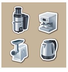 kitchenware stickers vector image vector image