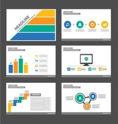 Orange blue yellow green presentation templates vector image