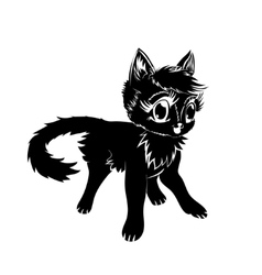 Silhouette of a cat vector image