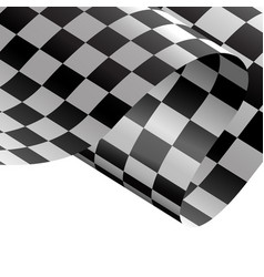 checkered flag flying wave white background race vector image vector image