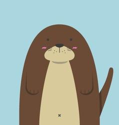 cute big fat otter vector image