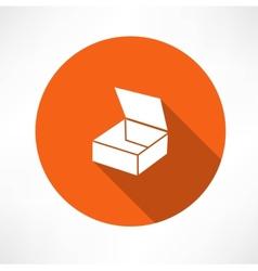 empty box icon vector image vector image