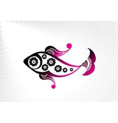 floral design fish vector image