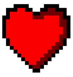 isolated pixeled heart vector image