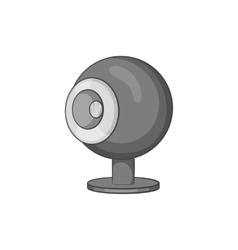 Webcam icon black monochrome style vector image vector image
