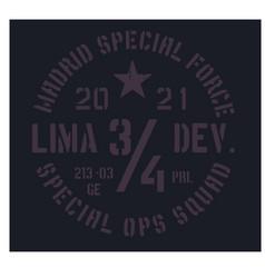 madrid military badge vector image