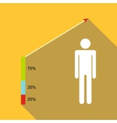 People infographic icon flat style vector image