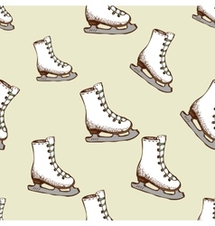 Seamless pattern with racing skates vector image vector image