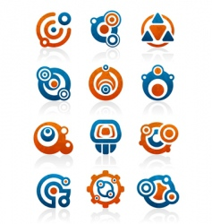 abstract tribal icons and symbols vector image vector image