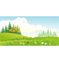 Autumn wood vector image