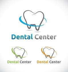 Dental care center logo element design vector image