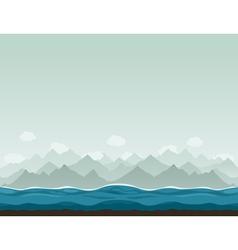 Mountains ashore2 vector image vector image