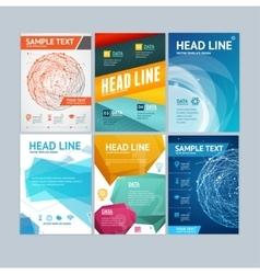 Placard Flyer Brochure Poster Set vector image
