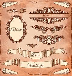 Set of calligraphic design elements page vector