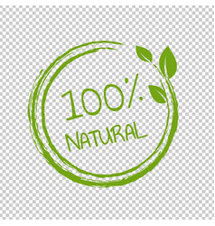 100 natural product transparent background vector