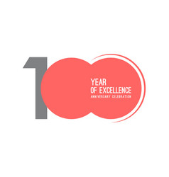 100 year excellence anniversary celebration vector
