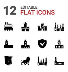 12 royal icons vector