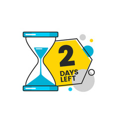 2 days left - geometric countdown sticker with vector