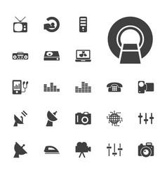 22 electronics icons vector image