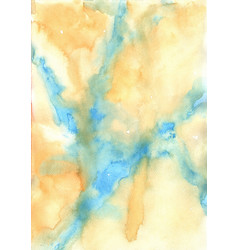 abstract blue and yellow brown watercolor vector image