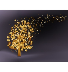 Abstract gold background EPS 8 vector