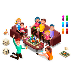 Adults leisure board games vector