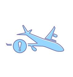 airplane flight plane transport travel warning vector image