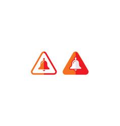 alarm bell alert logo icon vector image