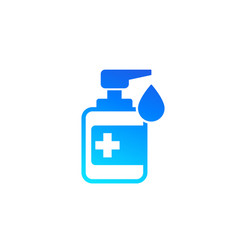 Antiseptic alcohol gel or hand sanitizer icon vector