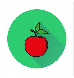 Apple simple icon on white background vector