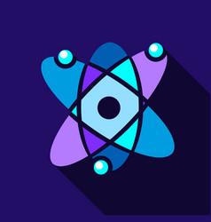 atom icon flat style vector image