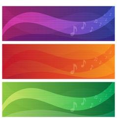 banners set music theme vector image