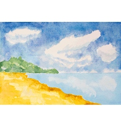 beach lanscape vector image