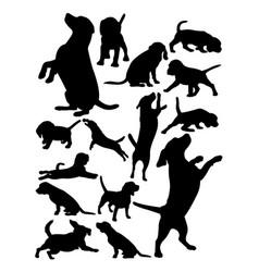 beagle dog animal silhouette vector image