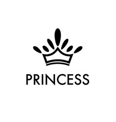 black silhouette of crown with decoration on top vector image