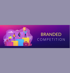 branded competition concept banner header vector image