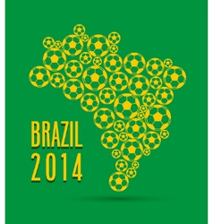 Brazil 2014 creative map vector image