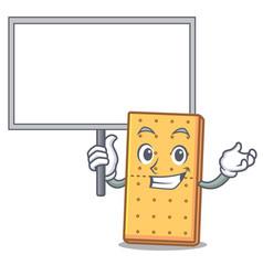 Bring board graham cookies character cartoon vector