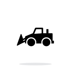 Bulldozer simple icon on white background vector image