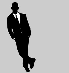 business man black and white 4 vector image