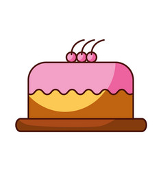 cake delicious berry bakery pastry food fresh vector image