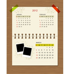 calendar2012 march vector image
