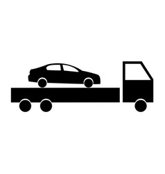 Car service the black color icon vector