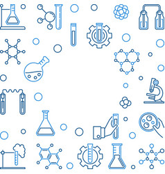 chemistry outline background with empty vector image